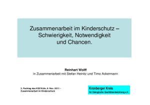 Zusammenarbeit im Kinderschutz Schwierigkeit, Notwendigkeit und Chancen