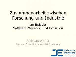 Zusammenarbeit zwischen Forschung und Industrie