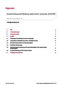 Zusammenfassende Meldung elektronisch versenden (ELSTER)