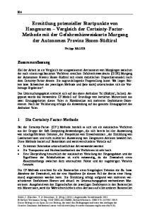 Zusammenfassung. 1 Die Certainty-Factor-Methode. Philipp BAUER
