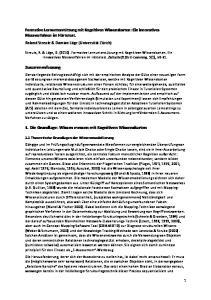 Zusammenfassung. 1. Die Grundlage: Wissen messen mit Kognitiven Wissenskarten