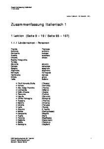 Zusammenfassung Italienisch 1