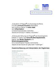 Zusammenfassung und Interpretation der Ergebnisse