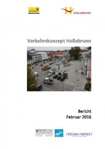 Zusammenfassung. Verkehrskonzept Hollabrunn