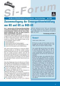 Zusammenlegung der Steuergeräteentwicklung von DS und GS zu DGS-EC