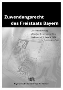 Zuwendungsrecht des Freistaats Bayern