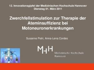 Zwerchfellstimulation zur Therapie der Ateminsuffizienz bei Motoneuronerkrankungen