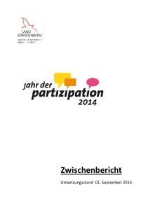 Zwischenbericht Umsetzungsstand 01. September 2014