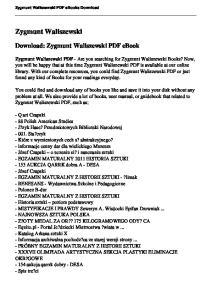Zygmunt Waliszewski. Download: Zygmunt Waliszewski PDF ebook